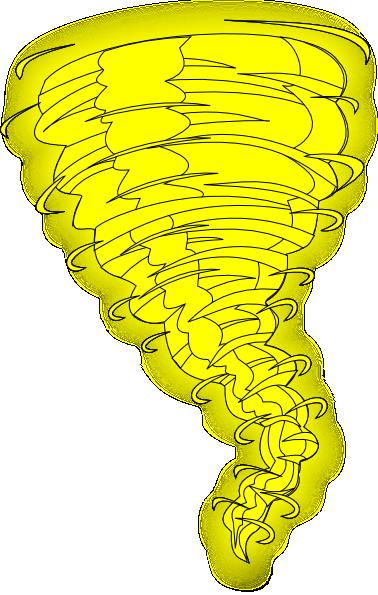 Yellow clipart tornado Vector  as: Clker online