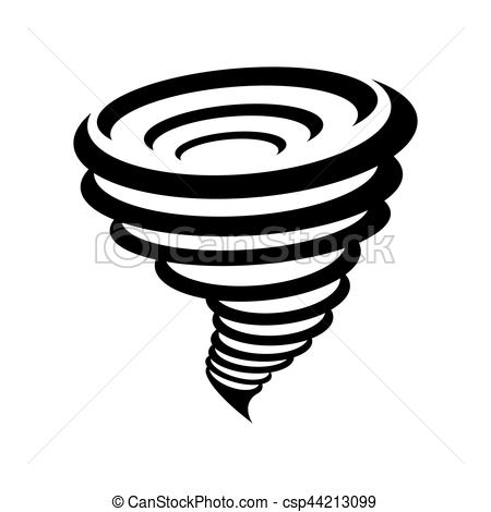Yellow clipart tornado Symbol background on of yellow