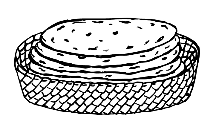 Tortilla clipart black and white Sketch Image Page Clip Art
