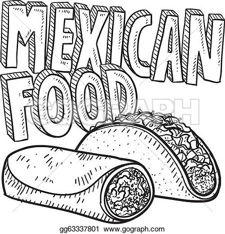 Pepper clipart mexican dinner Sketch Doodle Art sketch Vector