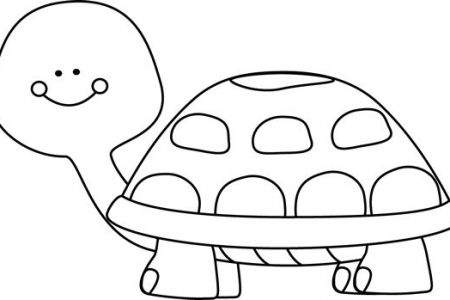 Tortoise clipart black and white #14