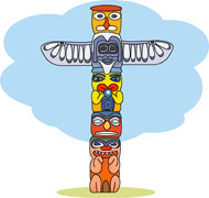 Totem Pole clipart whale  Graphics pole Search Kb