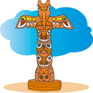Totem Pole clipart drawn Results totem for Search Pole