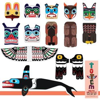 Totem Pole clipart aboriginal Clip Set Northwest) Pole Art