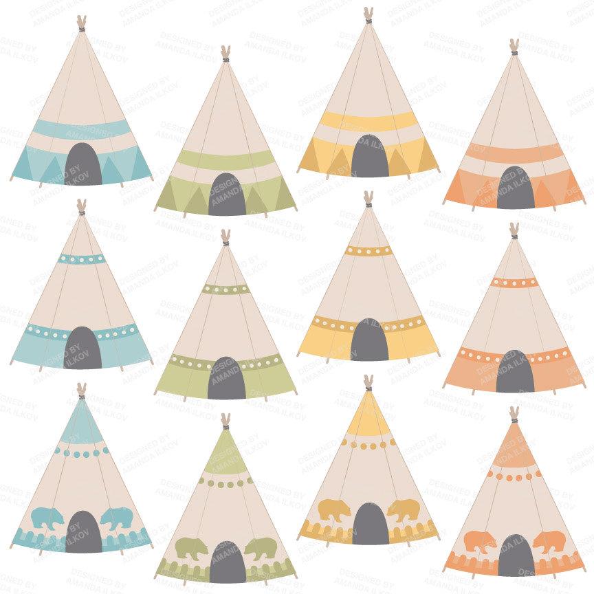 Totem Pole clipart canoe Clipart Tribal Clip Tribal Tipi