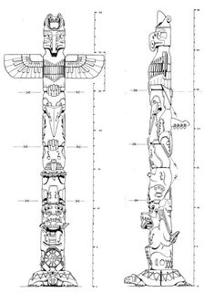 Totem Pole clipart cherokee And symbols totem and by