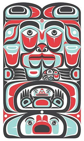 Totem Pole clipart chinook Pinterest Wolves Free totem