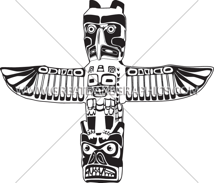 Totem Pole clipart drawn Printing Totem for T