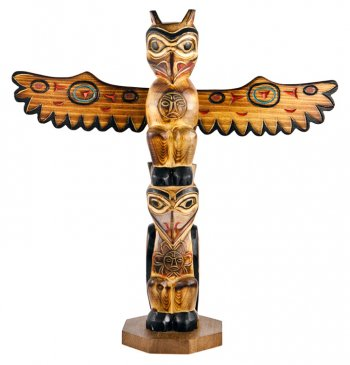Totem Pole clipart eagle Raven totem Clipart Pole photo#25