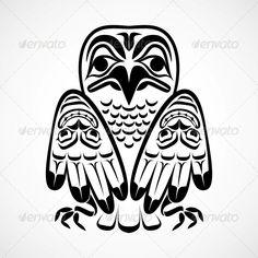 Totem Pole clipart eagle Native Illustration Clip Symbols Eagle