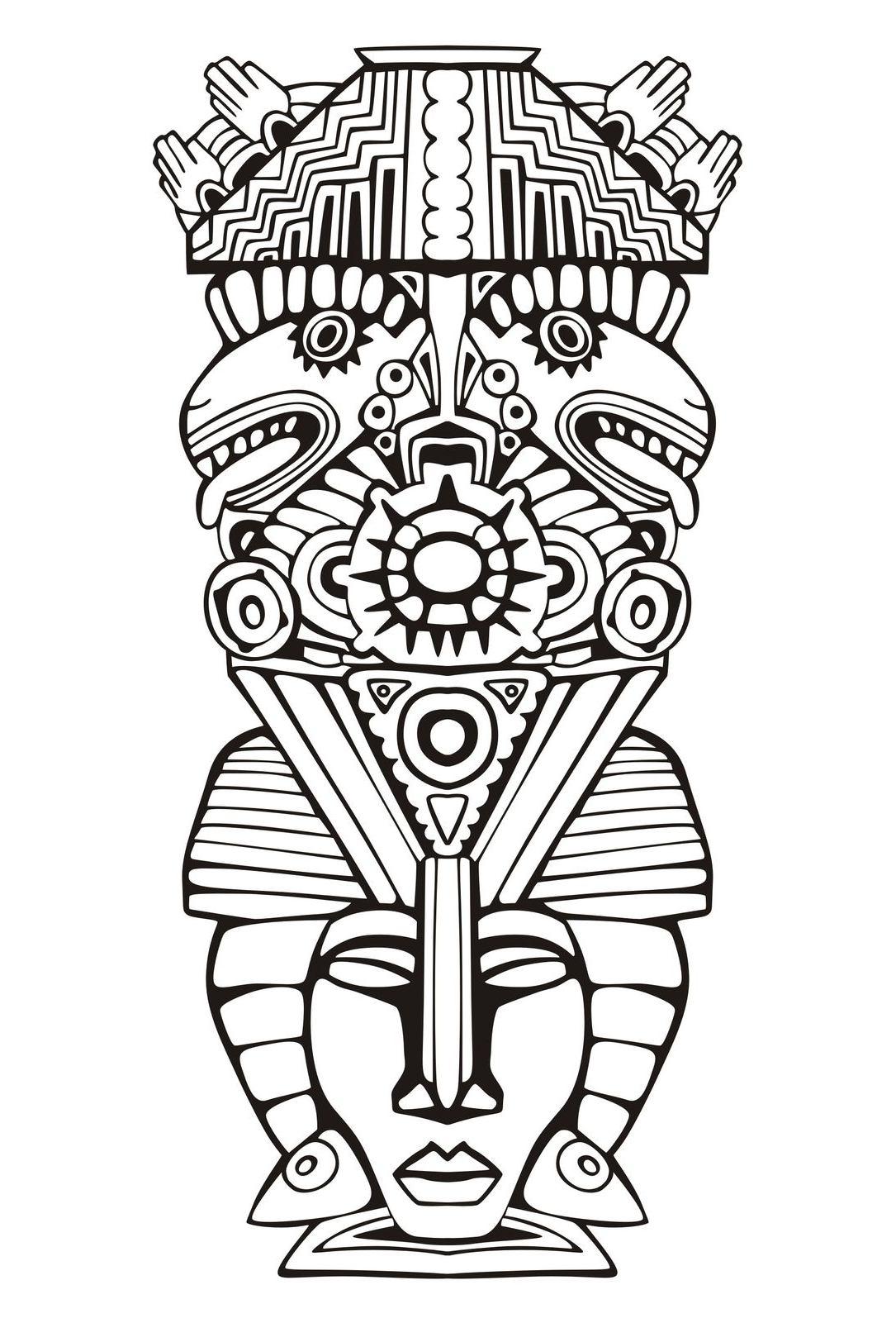 Totem Pole clipart inca Inca Poles mayan Totems page