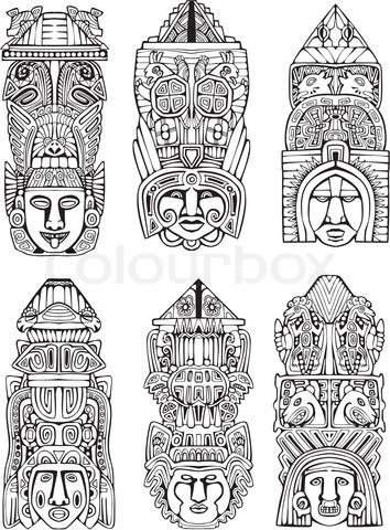 Totem Pole clipart inca Poles Pinterest designs designs totem