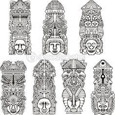 Totem Pole clipart inca Poles Pinterest poles designs totem