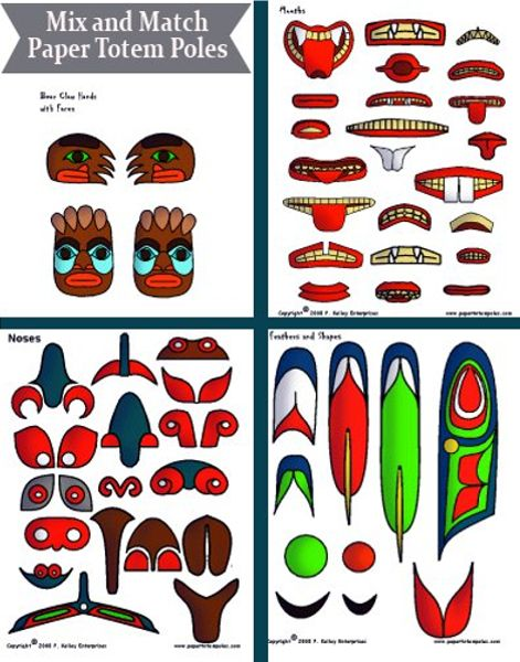 Totem Pole clipart iroquois Images on Totem Homeschool: best