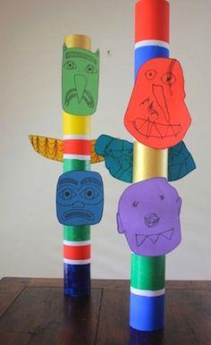 Totem Pole clipart kid It pole scout totem child
