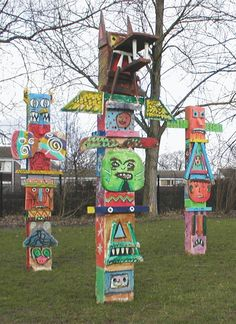 Totem Pole clipart kid Activity artist Totem with pole