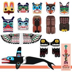 Totem Pole clipart kwakiutl A Totem Clip Collage Northwest)