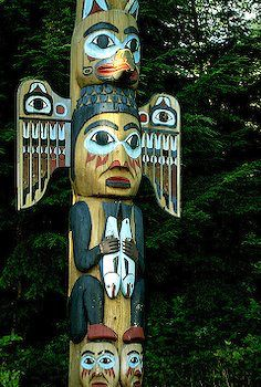 Totem Pole clipart makah ~ Pin Columbia this