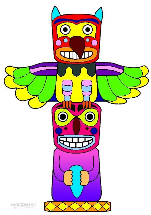 Totem Pole clipart makah Pole Totem 50 Coloring For