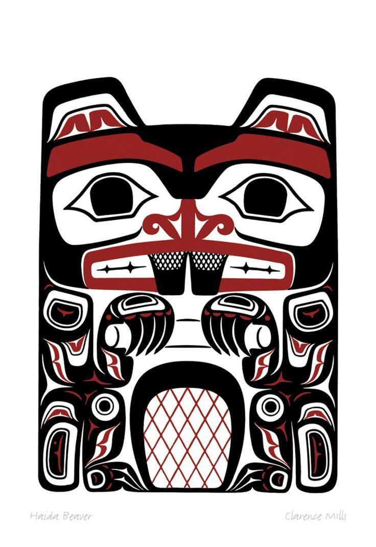 Drawn totem pole eskimo On images Haida best Beaver