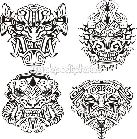 Totem Pole clipart mayan This totem Maya Find more