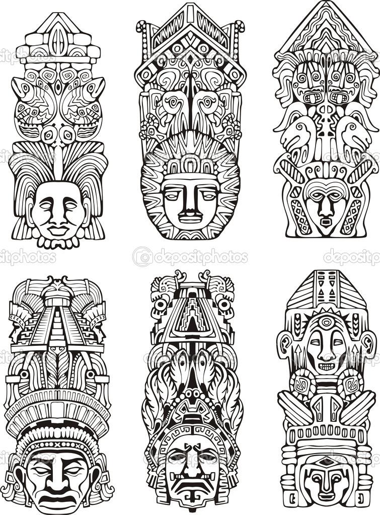 Totem Pole clipart mayan Totem в More mayan в