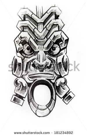 Totem Pole clipart mayan иллюстрации Totem Shutterstock Стоковые Totem