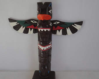 Totem Pole clipart mexican Carved Pole Pole Vintage Authentic
