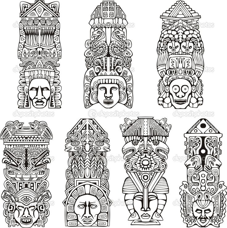 Totem Pole clipart mexican Totem on best depositphotos_16294615 Totem
