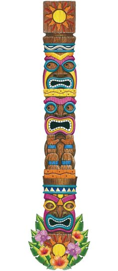 Totem Pole clipart polynesian Pinterest Jointed Pole tiki bar