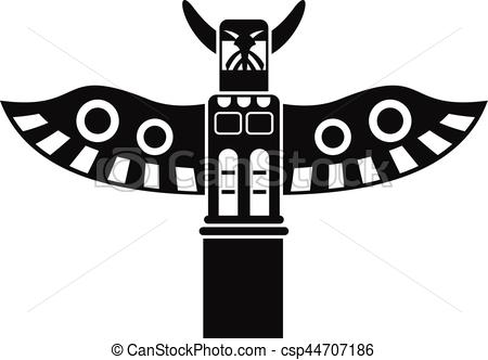 Totem Pole clipart simple  religious style csp44707186 simple