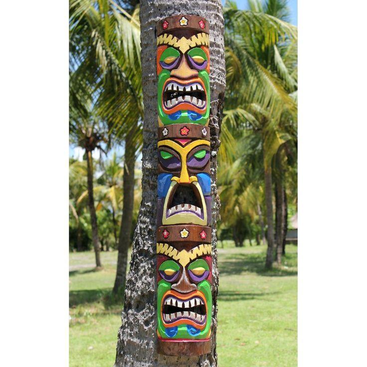 Totem Pole clipart tiki man Top man carved Tiki ideas