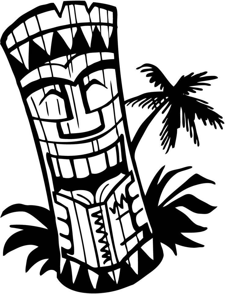 Totem Pole clipart tiki man Clipart images Pin best about