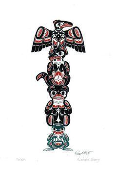 Totem Pole clipart tlingit indians Vector art Totems Totem The