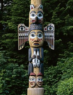 Totem Pole clipart tlingit indians Seattle fog  woman north