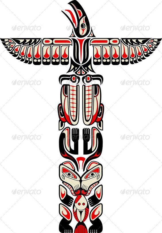 Totem Pole clipart tlingit indians Zu Native art Pinterest 21