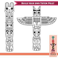 Totem Pole clipart viking Graphics Northwest) Set Clip the