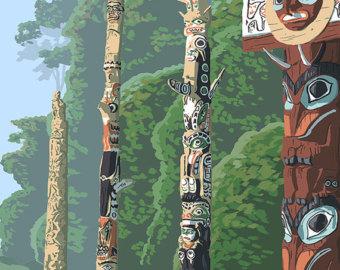 Totem Pole clipart viking In Poles multiple Prints (Art