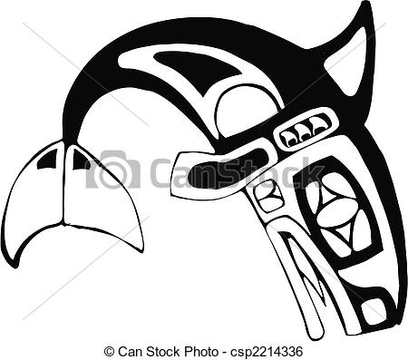 Totem Pole clipart whale  the Two Art Vector
