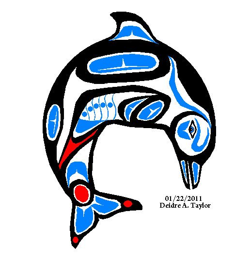 Totem Pole clipart whale Indianen images best on Pinterest