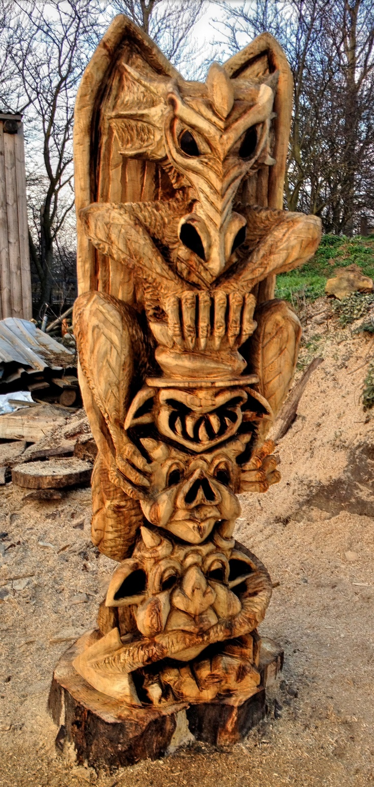 Totem Pole clipart wood carving And Pole Pinterest Carved with