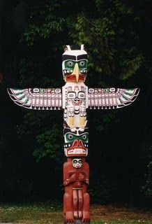 Totem Pole clipart wood carving Don't Park to  Totem