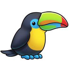 Blur clipart toucan  happiness: clip digital clipart