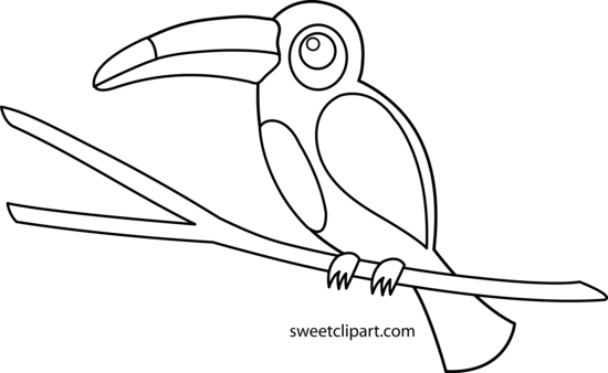 Toucan clipart black and white #9