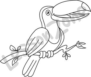 Toucan clipart black and white #10