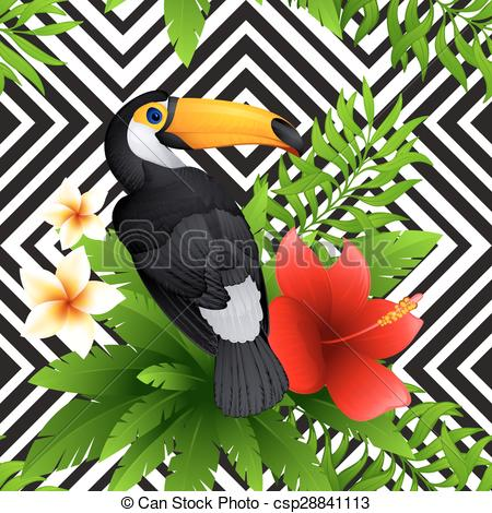 Toucan clipart geometric #1
