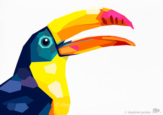 Toucan clipart geometric #2