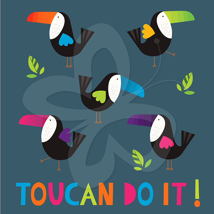 Toucan clipart geometric #5