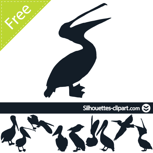 Pelican clipart silhouette Clipart vector silhouettes silhouette silhouettes
