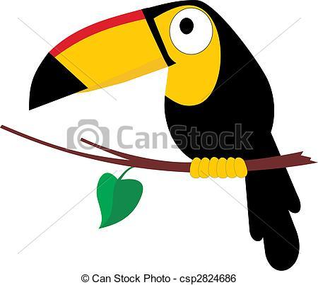 Toucan clipart tropical bird #6